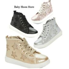 Infant Toddler Girls Tennis Shoes High Top Sneakers 5-10 New Style