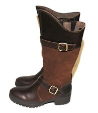 NEW Merrell City Leaf Tall Boot J00928 Dark Earth Brown Leather Suede Women's 6