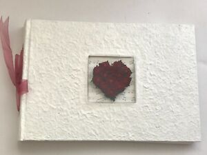 Wedding Guestbook , Red Rose Flowers of Love Shaped Heart, on Musical Drop