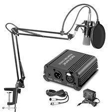 Neewer NW-700 Microphone with Stand and 48V Phantom Power etc 6 in 1 Kit