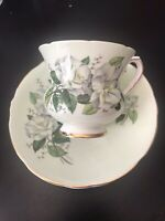 Royal Stafford Bone China Tea Cup And Saucer Gold Rim Vintage