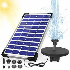 AISITIN 5.5W Solar Fountain Pump Built-in 1500mAh Battery Solar Water Pump with