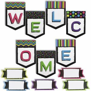 Juvale Welcome Classroom Decorations Banner Decor with 48 Name Tags