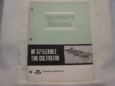 Massey Ferguson Mf 37 Flexible Tine Cultivator Operator Manual