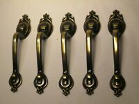 "6 vintage drawer pull handles handle hardware 737A-1 Amerock 3"" center to center"