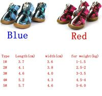 4pcs New AC Pet Boots Breathable Pet Mesh Shoes Non-slip Dog&Cat Shoes 1-5#