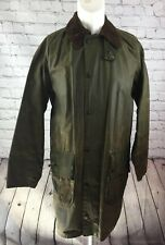 Barbour Wax Jacket Original Vintage Two Royal Crests 80s Gamefair C38 97cm Green