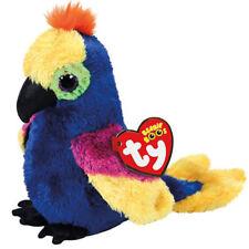 "New Ty Beanie Boos 6"" Wynnie Rainbow Multi-Colored Macaw Parrot Plush Toy Doll"