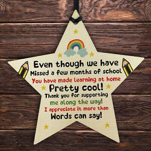 Gift For Teacher Teaching Assistant Lockdown Poem Thank You Gift Wood Star