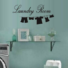 Lettering Laundry Room wall Decal Sticker for Home Decor Wall Window Door Art