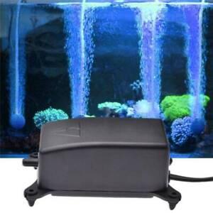 Ultra-Silent Aquarium Marine Air Pump Fish Tank Increasing Oxygen Pump NEW