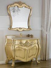 Como e specchio Anderson stile Barocco Francese arredo bagno bombato foglia oro