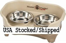 Neater Feeder Cat Small Dog Mess Proof Elevated Dish Stainless Steel Bowls - New