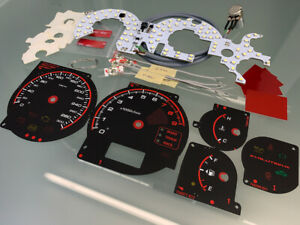 Mitsubishi Lancer EVO 7 8 9 custom dials and LED conversion kit 300 km/h
