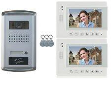 Video Türsprechanlage Gegensprechanlage Bildaufnahme Kamera Klingel 2 Monitore