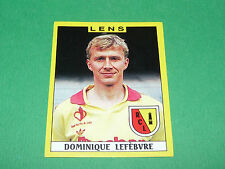N°101 DOMINIQUE LEFEBVRE RC LENS BOLLAERT RCL PANINI FOOTBALL FOOT 89 1988-1989