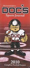 2010 Doc's Sports Journal 39th Annual Edition Complete Football Season Like New