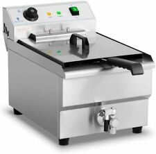 More details for royal catering commercial electric deep fat fryer with drain tap cold zone 16l