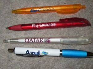 AIRLINE PEN LIAT CARGO FLY EMIRATES QATAR AZUL RARE COLLECTION