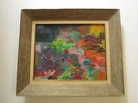 1960 PANTING EXPRESSIONISM MODERNISM MYSTERY ARTIST CHUNKY ABSTRACT VINTAGE