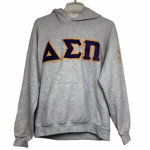 Delta Sigma Pi Professional Business Fraternity Gray Hoodie Pullover Mens Sz M