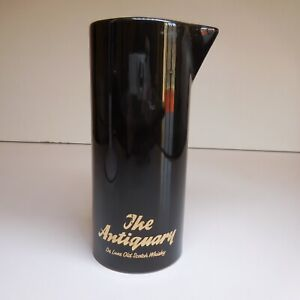 Pichet carafe porcelaine noir ANTIQUARY LUXE SCOTCH WHISKY PM ENGLAND N7421