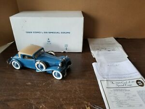 1:16 Danbury Mint 1929 Cord L-29 Special Coupe With Box & Certificate Excellent