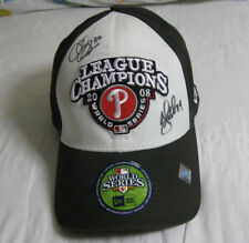 Philadelphia Phillies 2008 N.L.Champions Locker Room Cap, Dobbs,Durbin Autograph