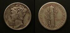 1941 D Circulated Mercury Dime Coin
