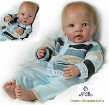 "Ashton Drake ""NOAH""-LIFELIKE ""TOUCH ACTIVATED"" 20"" BABY BOY DOLL-NEW-IN STOCK !"