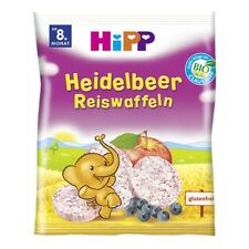 HiPP Organic Rice Cakes Snack with Blueberry & Apple from 8 Months 33g 1.1oz