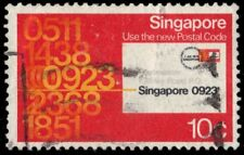 SINGAPORE 323 (SG350) - Introduction of the Postal Code System (pf94411)