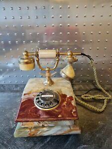 Altes Marmor Telefon im Antik-Stil Haustelefon Retro Vintage