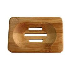 Hot Sale Natural Bamboo Soap Dish Storage Holder X1B6