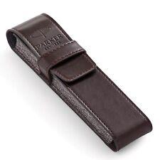 PARKER PEN Brown Luxury PU Leather Pen Pencil Pouch Case BRAND NEW