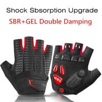 New RockBros Upgrade Shockproof Cycling Gloves SBR+GEL Pad Half Finger Gloves
