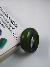 Rich Green Nephrite Hetian Jade Mens Thumb Ring jade ring size 9 10