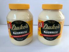 Duke's Real Mayonnaise 32 ounces (2 pack) Smooth & Creamy ~ Exp Date 02/06/2021