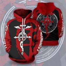 Fullmetal Alchemist Hoodies Jacket Edward Elric Cosplay Sweatshirt Pullover Coat