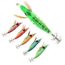 Artificial Squid Jig Fishing Lure Bait Luminous Crankbaits Tackle 10cm/13g❤NN
