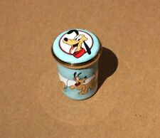 1996 Disney Halcyon Days Enamel Trinket Pill Box Pluto 🦴