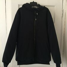 North 15 Men's Hooded Sweatshirt Jacket, Size 3XL, Thermal Lined, Blue, NWT, Zip