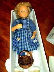 "1989 Gotz  Sylvia Natterer 19"" Vinyl Blonde Curls Fanouche Puppefabrik Doll MIB"