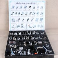 32pcs Sewing Machine Presser Foot Feet Kit Set Box For Brother Singer Janome
