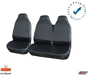 VAN SEAT COVERS HEAVY DUTY 2+1 BLACK FITS RENAULT MASTER AND TRAFFIC