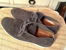 Walk-Over Derby Gray Suede Leather lace up Shoes Men's 8 M- MADE IN USA