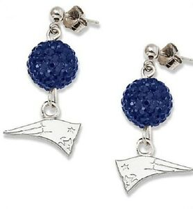 New England Patriots Bling Earrings Jewelry Crystal Jewelry