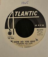Carla Thomas Atlantic DJ 2272 How Do You Quit and Puppet