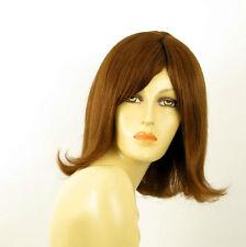 perruque femme 100% cheveux naturel châtain clair cuivré ref HELENA  30
