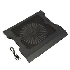 "New 2 USB Port Cooling Cooler 0ne Fan Pad Stand for 16"" Laptop PC With LED Light"